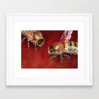 bees Framed Art Prints featuring Bees by Dana Martin