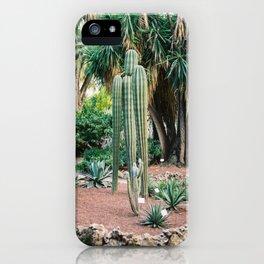 "Travel photography ""Ibiza Cactus Love"" | Modern wall art Ibiza Spain coast white tones sunset nature iPhone Case"