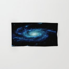 Spiral gAlaxy. Teal Ocean Blue Hand & Bath Towel