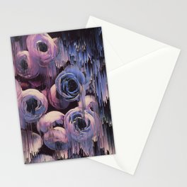 Floral Glitches Stationery Cards
