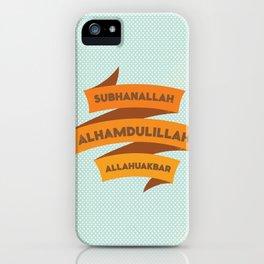 Subhanallah Alhamdulillah Allahuakbar iPhone Case
