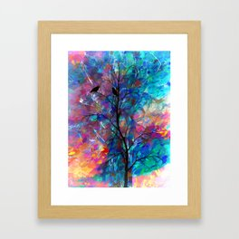 Love Birds Abstract #society6 #decor #lovebirds by Lena Owens @OLena Art Framed Art Print