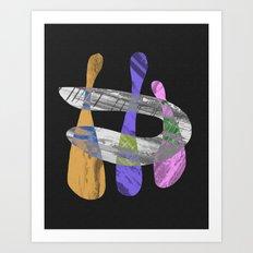 Togetherness - Pastel, abstract artwork Art Print