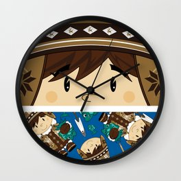 Cute Inuit Boy Wall Clock