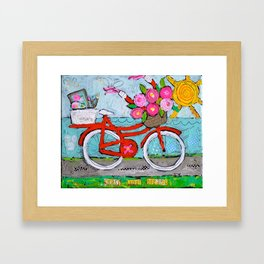 Chase Your Dreams Bicycle Art Framed Art Print