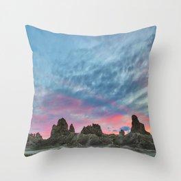 Pastel Rainbow Sunset : Tronna Pinnacles Throw Pillow