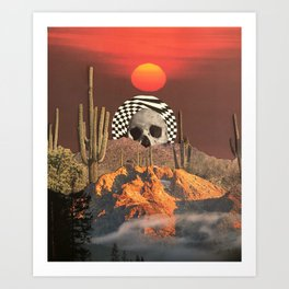 Desert psycedelia Art Print