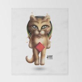 Rastaman Cat Throw Blanket