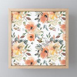 Peachy Keen Pattern Framed Mini Art Print
