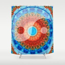Chinese Symbol Art - Ideal Balance Yin and Yang by Sharon Cummings Shower Curtain
