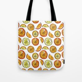 Illustrated Oranges and Limes Tote Bag