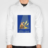 beauty and the beast Hoodies featuring Beauty and the Beast by TheWonderlander