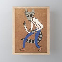 Kit the Raccoon Framed Mini Art Print