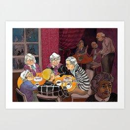 grandmas' tea party Art Print