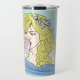 Sweet Dee Drinks A Beer Travel Mug