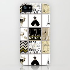 French Inspiration Patchwork Slim Case iPhone (5, 5s)