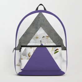 Ultra Violet Blossoms Arrows Backpack