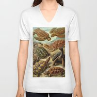 turtles V-neck T-shirts featuring TURTLES by Kathead Tarot/David Rivera
