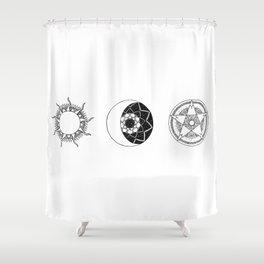 Sun Moon Star Mandalas Shower Curtain