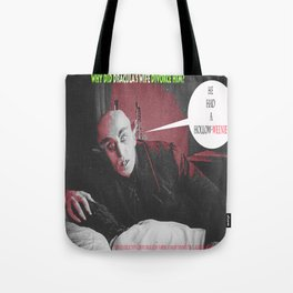 "'Count Orlock, the Vampire #3' from "" Nosferatu vs. Father Pipecock & Sister Funk (2014)"" Tote Bag"