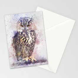 Owl (Abstract) Stationery Cards