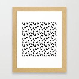 Hand Drawn Dots 2 Framed Art Print