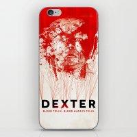 dexter iPhone & iPod Skins featuring DEXTER by Michael Scott Murphy