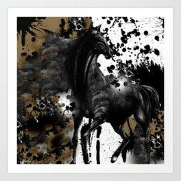 HORSE AND THUNDER Art Print
