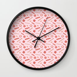 Seasonal Sweets Pink Wall Clock