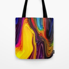 Melting Pot of Colors Abstract Tote Bag
