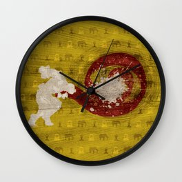"""Fire And Flame (Homage to Dhalsim of """"Street Fighter"""") Wall Clock"""