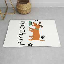 DadShund Dachshund Dad Funny Love Dog Pet Gift Rug