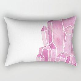 Rose Quartz Watercolor Rectangular Pillow