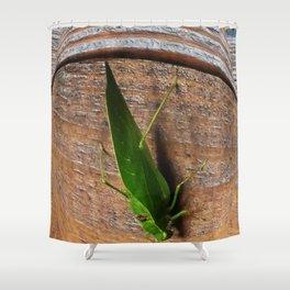 Katydid Shower Curtain