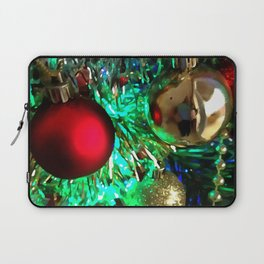 Baubles, Beads and Tinsel Holiday Decor Laptop Sleeve