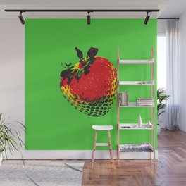 Strawberry Green - Posterized Wall Mural