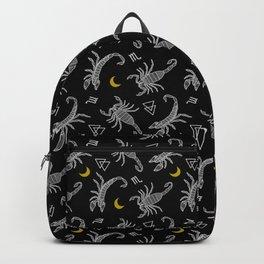 Scorpio Moon on Black Backpack