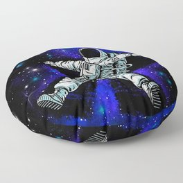 Astronaut Playing in Galaxy like Snow  Floor Pillow