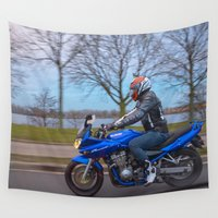 moto Wall Tapestries featuring Moto-tastic shot by Fatih