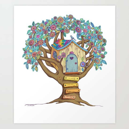 Live Simply, Love Trees Art Print