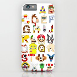 Super Mario Alphabet iPhone Case