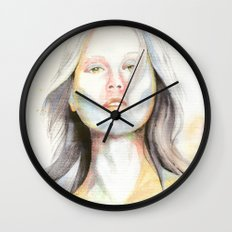 Blond girl Wall Clock