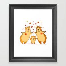Family of bears Framed Art Print