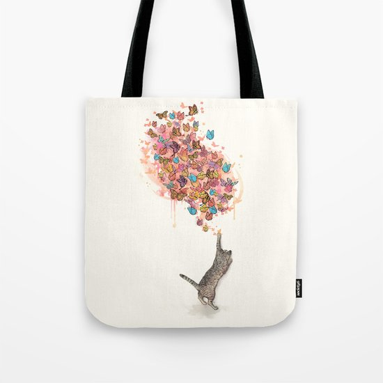 catching butterflies Tote Bag