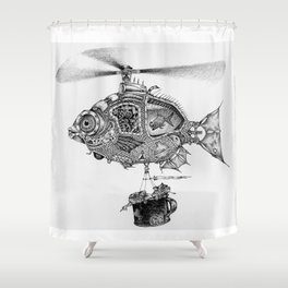 Weebits Flying Fish Excursion Shower Curtain