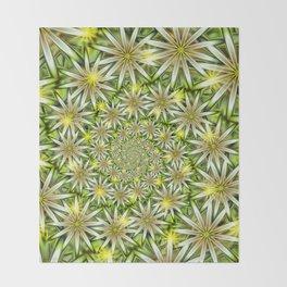Flower Spirals Throw Blanket