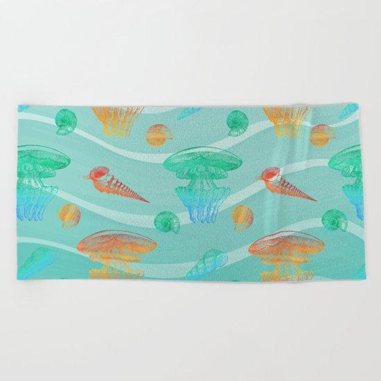 Marine Pattern 12 Beach Towel