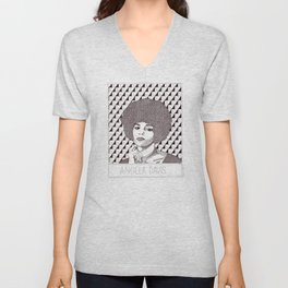 Angela Davis Portrait Unisex V-Neck