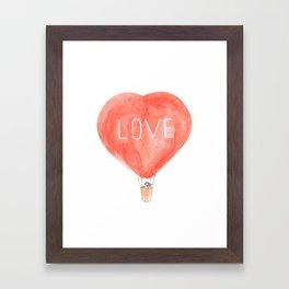 LOVE in the air Framed Art Print