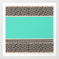Rectangles & Teal Art Print
